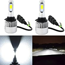 Alla Lighting 8000lm Xtremely Super Bright 6500K Xenon White High Power Mini 9012 LED Headlight Bulb Conversion Kits Lamps Replacement (9012)