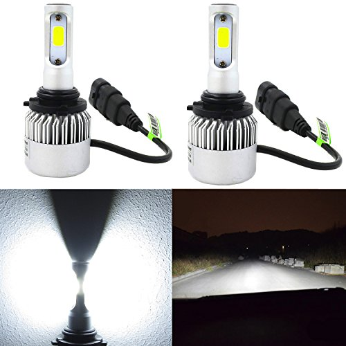 Alla Lighting HB4 9006 LED Headlight Bulbs 8000lm Xtreme Super Bright 6500K Xenon White High Power Mini LED 9006 Headlight Bulb Low Beam Headlamp Conversion Kits Lamps Replacement