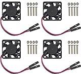 Easycargo Raspberry Pi Fan 30x30x7mm, Raspberry Pi Cooling Fan Brushless 3.3V 5V DC Quiet Fan for Raspberry Pi 3 B+, Pi 3 B, Pi 2, Pi B+, RetroFlag NESPI Case (30mmx30mmx7mm)