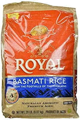 Royal Basmati Rice in Plastic Bag