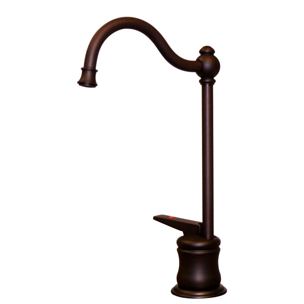Whitehaus WHFH3-H66-MABRZ Forever Hot 4 1/2-Inch Instant Hot Water Dispenser with Traditional Spout and Self Closing Handle, Mahogany Bronze