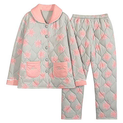 De Tres Mujer nbsp;pijamas Invierno Photo Grueso Traje Mmllse Capas 2018 Cálido Color 5CY0Zwqxq
