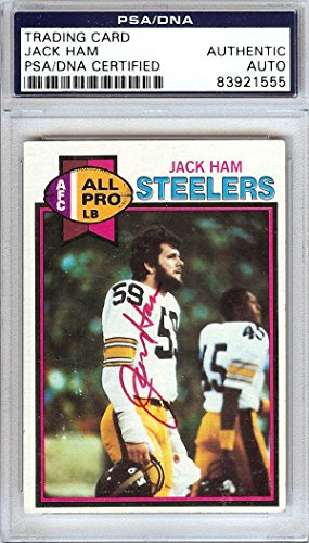 Jack Ham Autographed Signed 1979 Topps Card Pittsburgh Steelers #83921555 - PSA/DNA Certified - NFL Autographed Football Cards