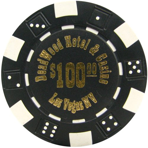 Trademark Poker Deadwood Hotel and Casino 50 Poker Chips (100-Piece), 11.5gm