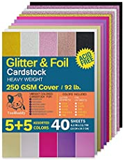 heavyweight Colored Glitter Cardstock