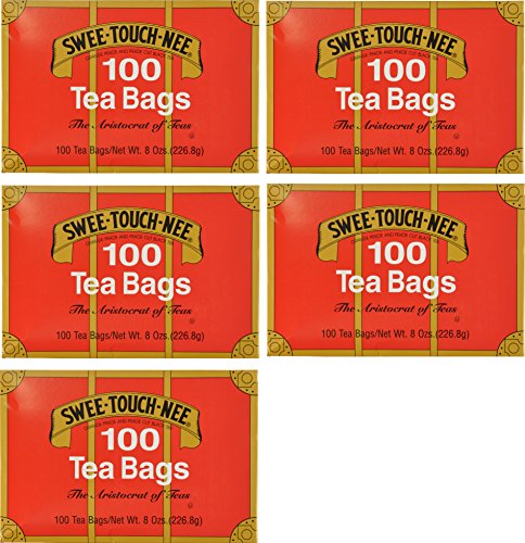 (Swee-Touch-Nee Tea, Orange Pekoe and Pekoe Cut Black Tea, 100-Count Tea Bags (Pack of 5))