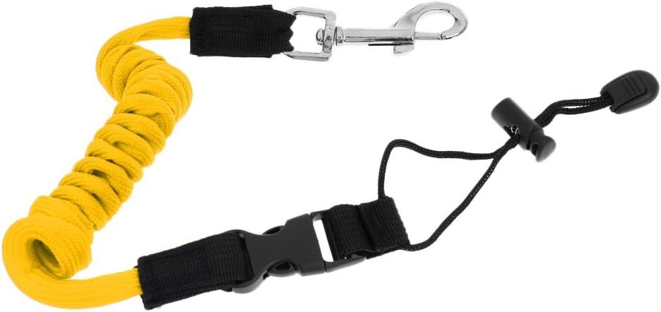 YiMusic Sicherheit elastische Kayak Paddel Leine Anzug f/ür Kajak Boot Angelrute Pole Coiled Lanyard Schnur Krawatte Seil Feste Schiff Artikel