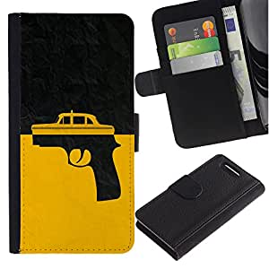 Planetar® Colorful Pattern Flip Wallet Leather Holster Protective Skin Case Cover For Sony Xperia Z3 Compact /D5803 / D5833 ( Taxi Gun Taxi Driver )