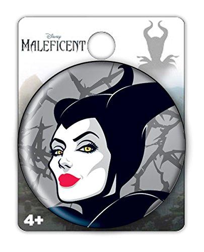 Disney Maleficent Face Button Pin Novelty