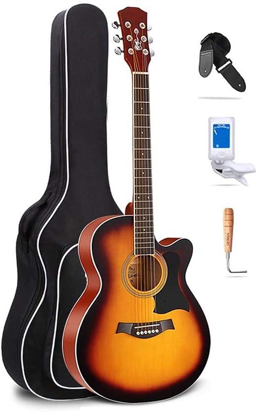 BAIYING-Guitarra Acústica , Adulto Guitarra De Viaje Abeto ...