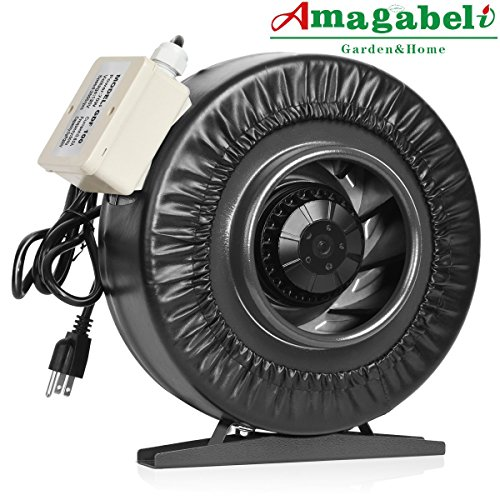 "Amagabeli 4 inch Inline Duct Fan 220 CFM for Hydroponics Grow Tent Room Ventilation 4 in Exhaust Intake Blower for Attic Bathroom Kitchen Basement Booster Air Vent Cooling System for 4"" Carbon Filter"