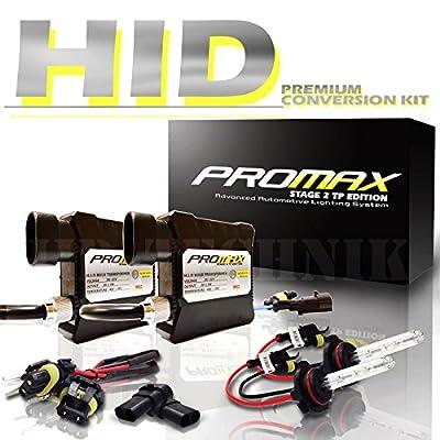 "Promax HID Xenon Conversion Slim Kit Headlight Low / High / Fog Lights with "" Smallest High Intensity Digital Ballasts "" All Bulbs Sizes Hids light Kits Headlight Conversion"