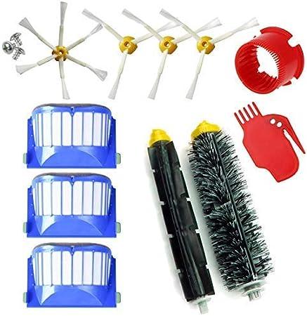 MIRTUX Kit de repuestos compatible con Roomba serie 600. Pack de cepillos y accesorios reemplazo de aspiradora 605 610 612 615 616 620 621 630 631 645 650 651 655 660 665 671 675 680 686 690: Amazon.es: Hogar