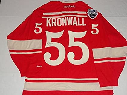 feb676644 Signed Niklas Kronwall Jersey - Rbk Premier 2014 Winter Classic -  Autographed NHL Jerseys