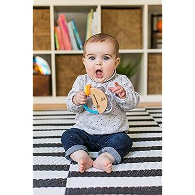 Baby Einstein Tiny Tambourine Wooden Musical Toy, Ages 3 months + : Baby