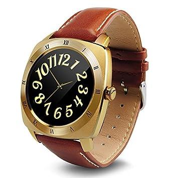 Lemumu Reloj inteligente Pantalla redonda correa de cuero ...
