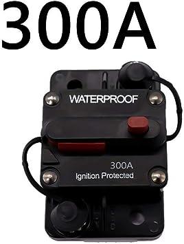 50A 50A-300A AMP 12-48V DC Circuit Breaker Fuse Car Boat Waterproof Manual Switch