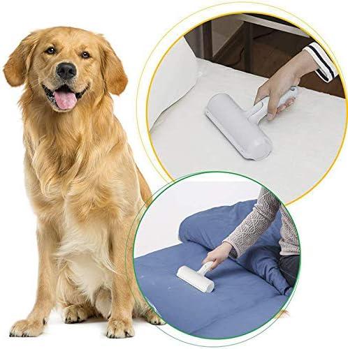 v/êtements ACECITY Rouleau /à /épiler pour animaux de compagnie Rouleau /à poils longs pour chat et chien Rouleau /à charpie Brosse de nettoyage de peau danimal pour meubles bleu canap/é