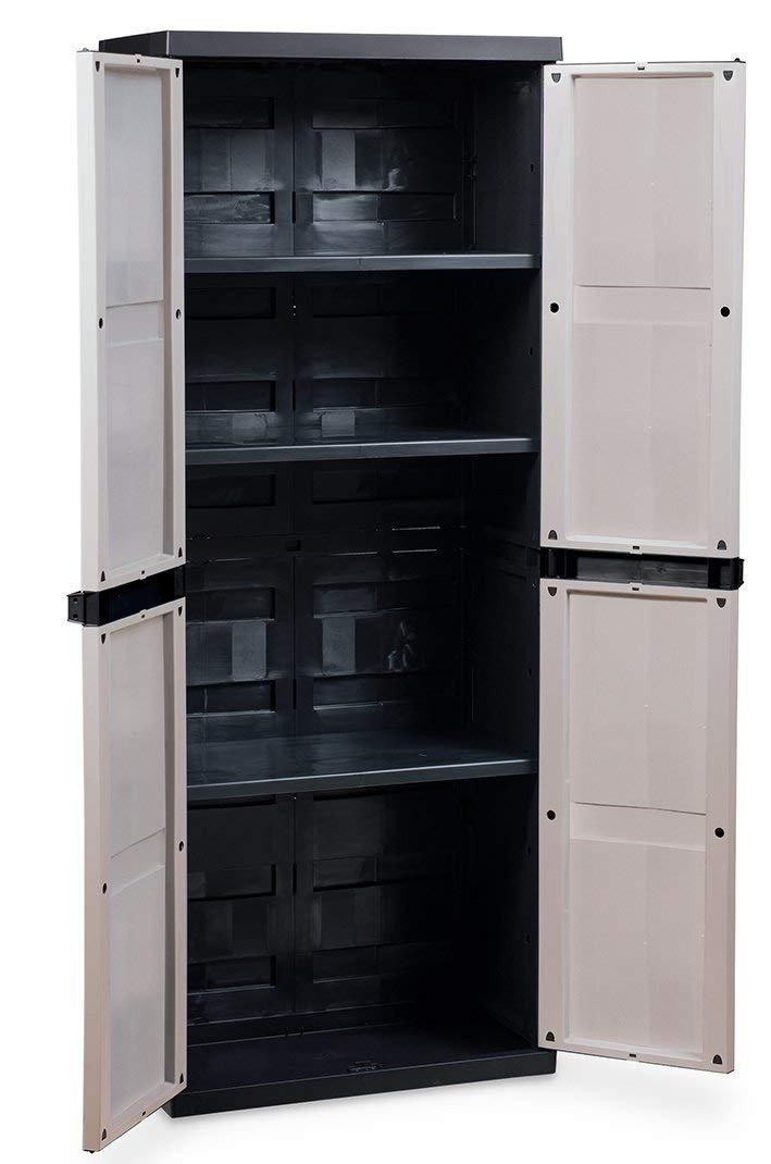 Ondis24 Kunststoffschrank Kellerschrank B/üroschrank Eco S mit 3 verstellbaren Fachb/öden
