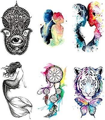 Oottati 6 Hojas Pequeño Lindo Tatuaje Temporal Tattoo Ojo De ...