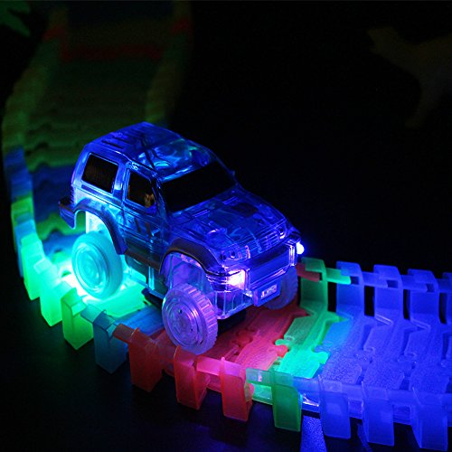 Race Track Glow In The Dark Flexible Race Car Track With