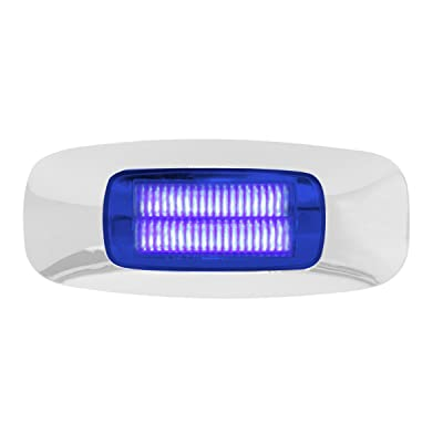 GG Grand General 74725 3-1/2 Inch Rect. Prime Blue 4 Led Dual Function Int. Light: Automotive