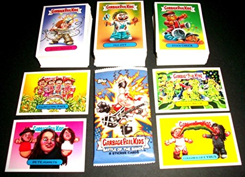 2017 GARBAGE PAIL KIDS -BATTLE OF THE BANDS SERIES- LOT OF THIRTY DIFFERENT STICKERS + 2 CEREAL KILLER CARDS