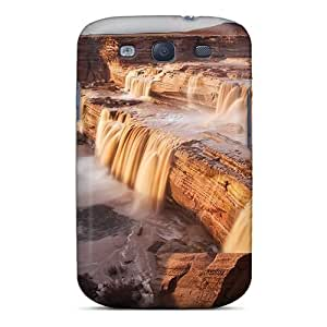 Hot Tpu Cover Case For Galaxy/ S3 Case Cover Skin - Canyon Desert Waterfalls