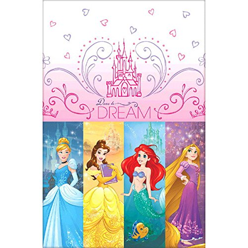 Ultimate Disney Princess Party!!!Birthday Party Decoration Supplies Bundle Pack with 16lg&16sm Plates 16-9oz Cups, Matching Table Cover&Jumbo Banner,50 Napkins(Bonus Matching Party Straw Pack) by Everyday Party Bundles (Image #4)