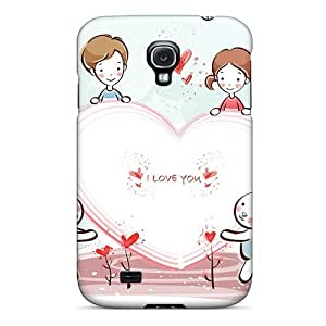 New Snap-on Wade-cases Skin Case Cover Compatible With Galaxy S4- I Love You