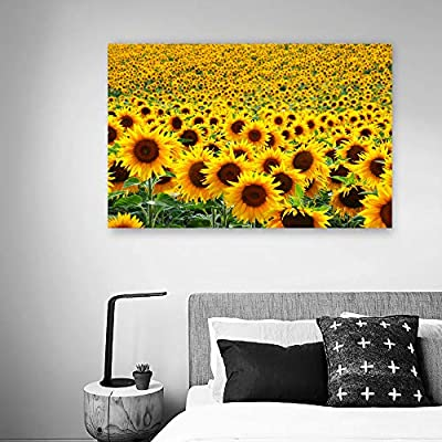 Canvas Wall Art for Living Room,Bedroom Home Artwork Paintings Sunflower Ready to Hang - 24x36 inches