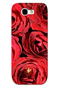 New Shockproof Protection Case Cover For Galaxy Note 2/ Red Roses Case Cover
