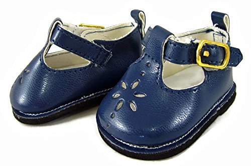 Doll Clothes Sew Beautiful Navy Blue T-Strap Shoes fit Bitty Baby
