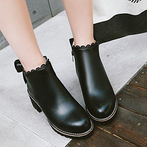AIYOUMEI Women's Classic Boot Black Okzymp