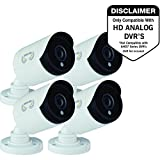 Best Bullet Surveillance Security Systems - Night Owl Security CAM-4PK-HDA10W-BU HD Wired Security Bullet Review