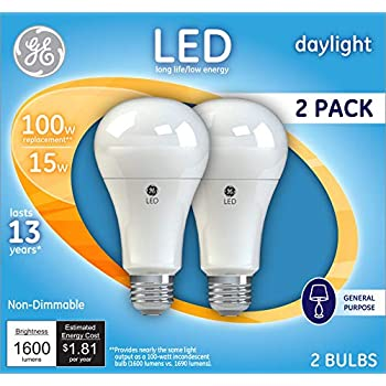 Ge Lighting 21868 Light Bulb Daylight A21 Led 15 Watt 100