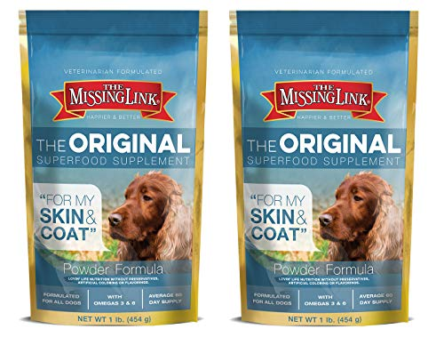 (The Missing Link Ultimate Skin & Coat Dog Supplement, 1-Pound, (Pack of 2))