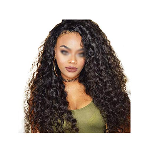 Brazilian Water Wave Lace Front Human Wigs Front Lace Wigs With Baby Pre Plucked Natural Hairline 150% Lotus leaf fragrance -