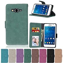 G530 Flip Case, Galaxy Grand Prime case, Samsung Galaxy Grand Prime Case Cover,YiLin PU Leather Flip Folio Wallet Case Cover for Samsung Galaxy Grand Prime - GREEN