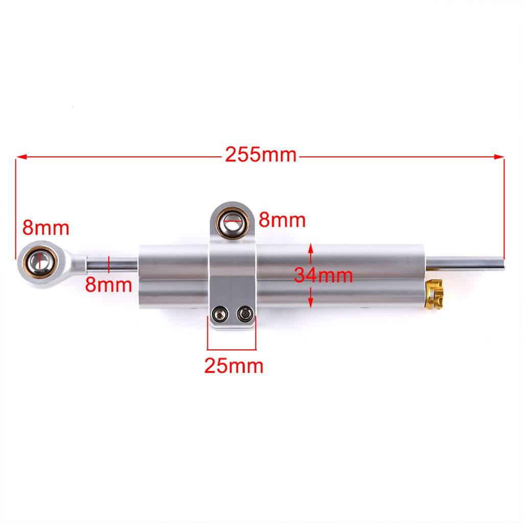 KESOTO Stabilizzatore Ammortizzatore di Sterzo Regolabile Universale per Moto Honda Honda
