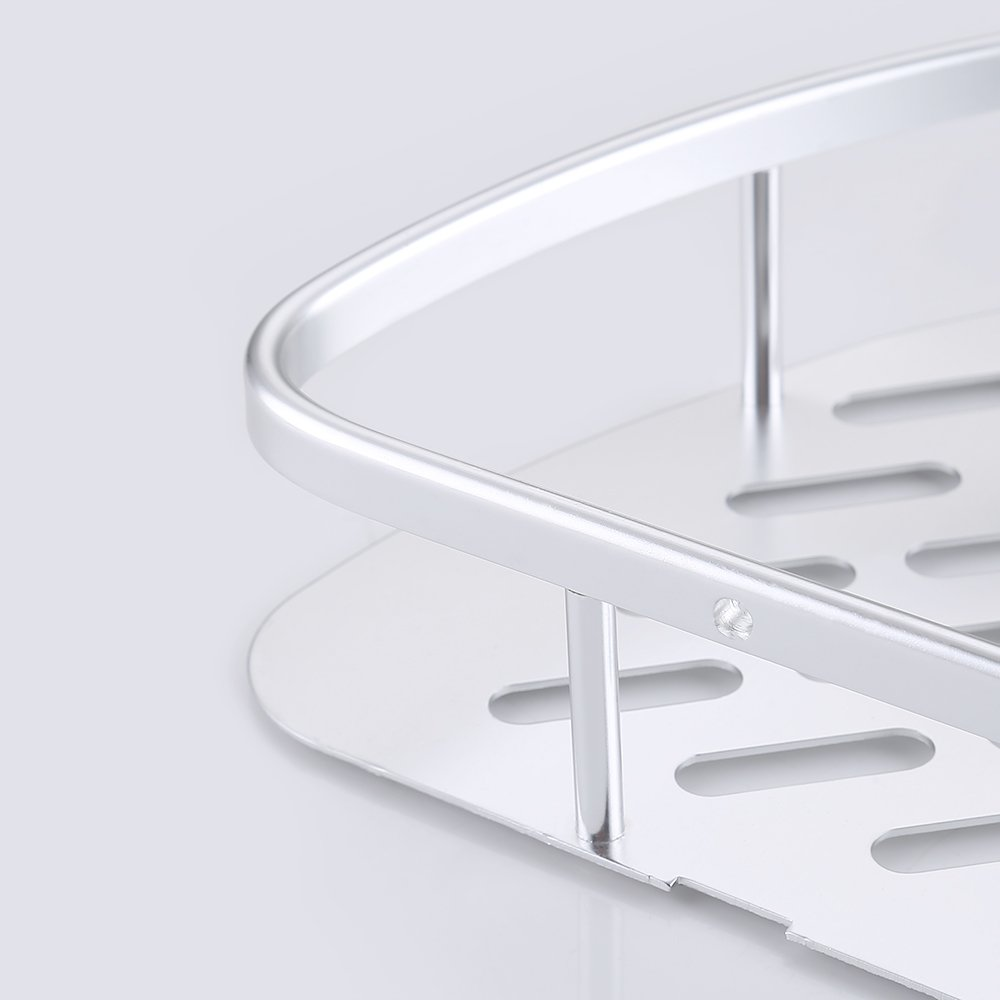 KES Aluminio Rinconera Estante Accesorios de baño 2 Pisos Montaje en pared 8eee8a23b596