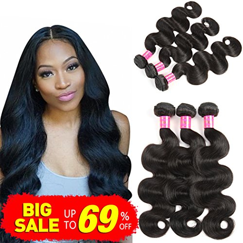 Bestsojoy 10A Peruvian Virgin Hair Body Wave 3 Bundles 100% Unprocessed Peruvian Body Wave Virgin Human Hair Extensions Weave Weft Natural Color(10 12 14)