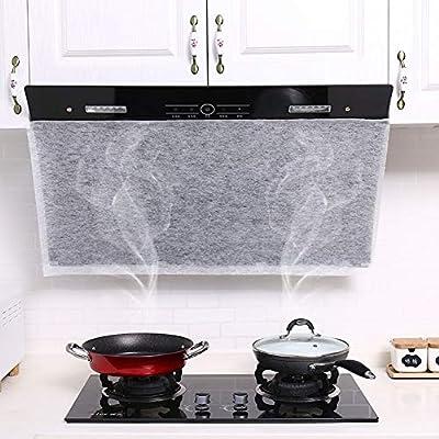 PowerBH Nuevo papel de filtro para campana de cocina Papel de filtro transparente para succión de aceite de cocina Papel de filtro no tejido para campana extractora: Amazon.es: Hogar