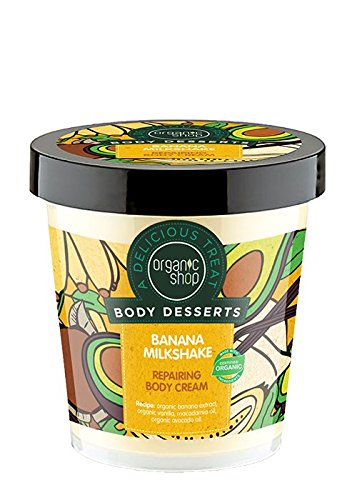 ORGANIC SHOP - Banana Milkshake Body Dessert - Creamy and Fruity Repairing Body Cream - Extraordinary Softness - Nourishes the skin in depth - Natural - 450 - Depth Body