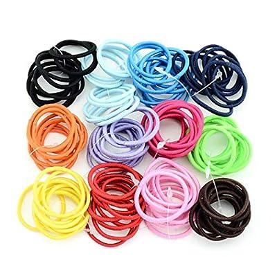 Kindes 100 Pcs/Set Kids Fashion Casual Cute Headwear Elastic Hair Ring Hair Rope Elastics & Ties