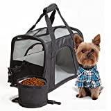 Dog Carrier Airline Approved LePet Soft-Sided Pet Carriers Perfect for Small Dogs and Cats with Fleece Bedding and Safety Lock,Up to 15lbs,Bonus Travel Bowl