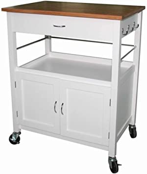 Amazon Com Andover Mills Kibler Kitchen Island Cart With Natural
