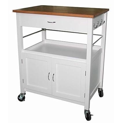 Amazon.com - Andover Mills Kibler Kitchen Island Cart with ...
