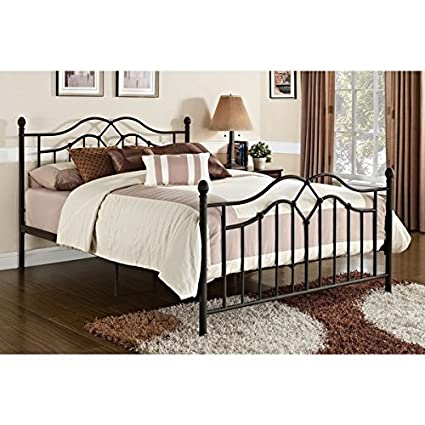 18e791a4542 Vintage Style Queen Full Size Rustic Bed Frame Rustic Bedroom Furniture  Brushed Bronze Brown Black Metal