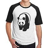 Sakanpo Men's Big Panda Raglan Short Sleeve Baseball T Shirt